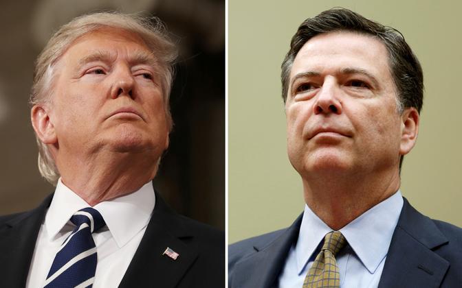 President Donald Trump ja FBI direktori kohalt vallandatud James Comey.