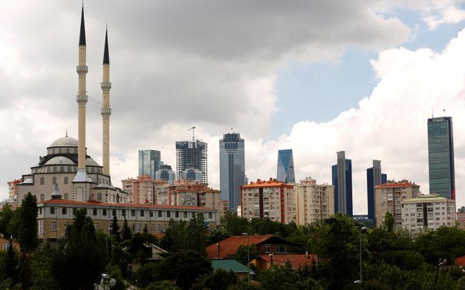 Äri- ja finantspiirkond Istanbulis.