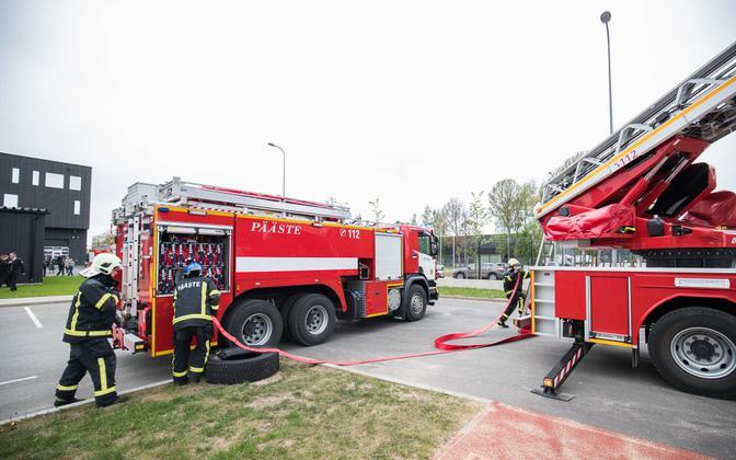 The Estonian Rescue Board's fire engines.
