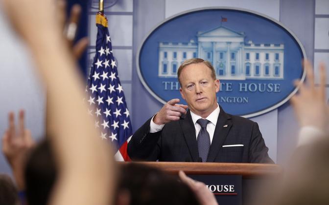 Valge Maja pressiesindaja Sean Spicer.