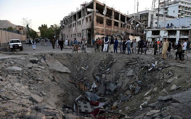 31. mai terrorirünnaku sündmuskoht Kabulis.