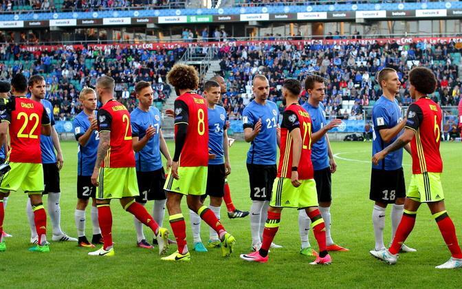 Jalgpalli MM-valikmäng Eesti - Belgia 2017. aastal