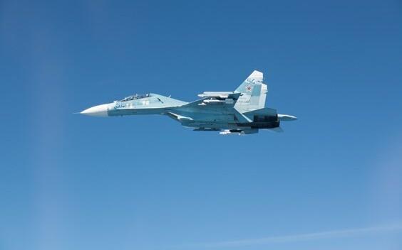 Russian Su-27. Image is illustrative