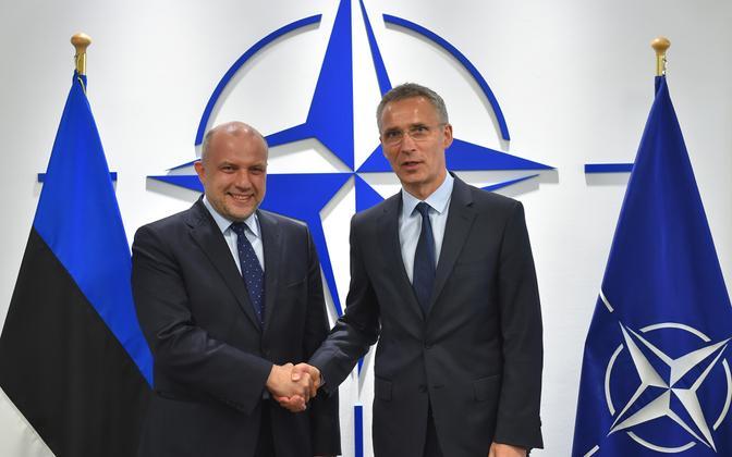 Kaitseminister Jüri Luik ja NATO peasekretär Jens Stoltenberg.
