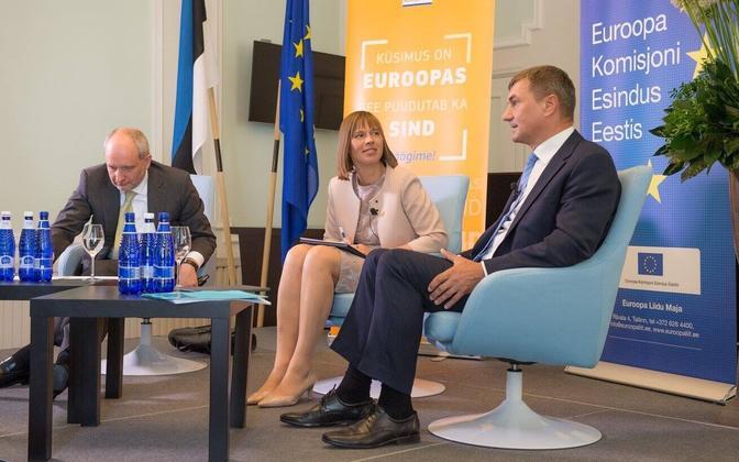 Matti Maasikas, Kersti Kaljulaid and Andrus Ansip. June 29, 2017.