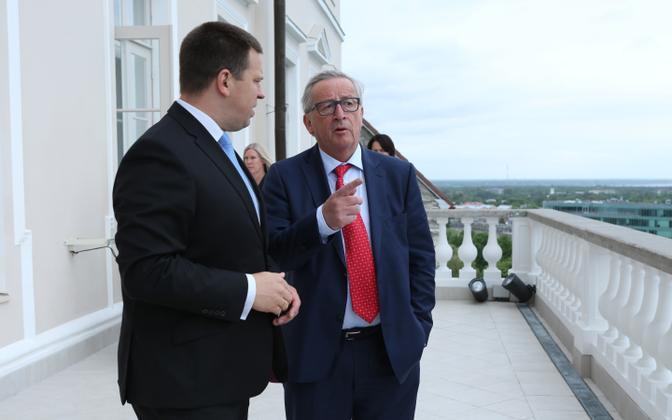 Jüri Ratas and Jean-Claude Juncker in Tallinn, June 30, 2017.