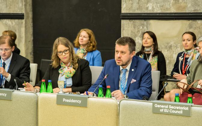 Urmas Reinsalu justiitsministrite mitteametlikul kohtumisel.