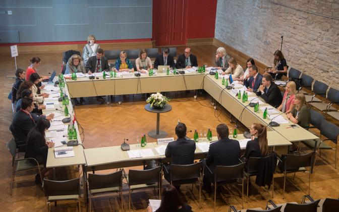 At the meeting of EU affairs committee chairwomen and chairmen, Tallinn, July 9, 2017.