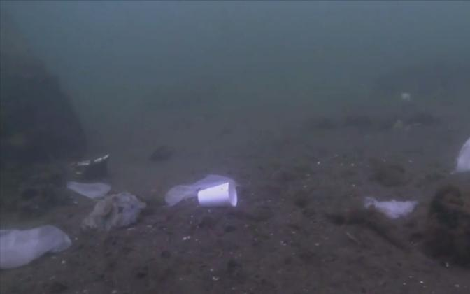 Plastic waste on the Baltic seabed