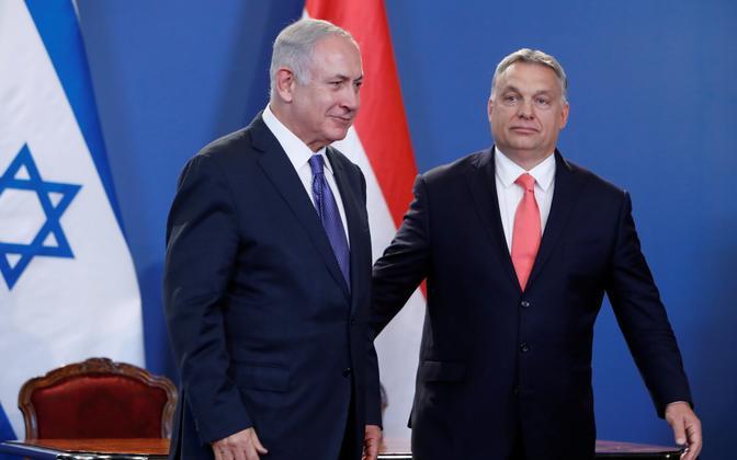 Iisraeli peaministri Benjamin Netanyahu ja Ungari peaminister Viktor Orban Budapestis.