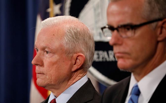 USA justiitsminister Jeff Sessions ja FBI direktori kohusetäitja Andrew McCabe.