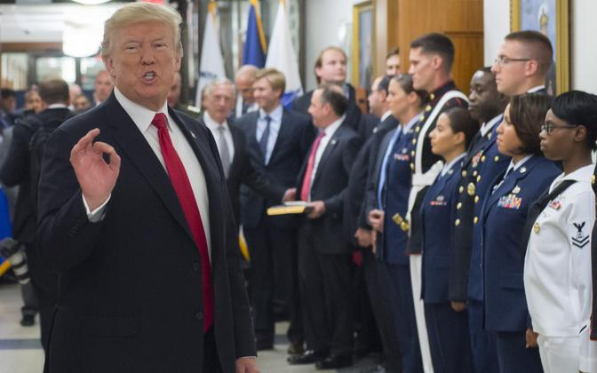President Donald Trump Pentagonis.