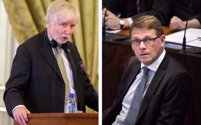 Erkki Tuomioja ja Matti Vanhanen.