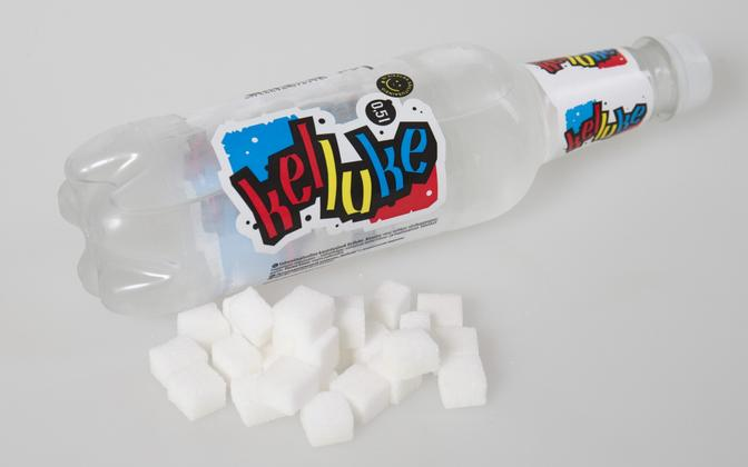The amount of sugar contained in one bottle of Kelluke, a popular Estonian soft drink.