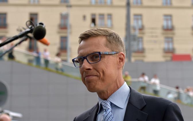 Alexander Stubb Soome rahandusministrina 2015. aasta juulis Kreekas.