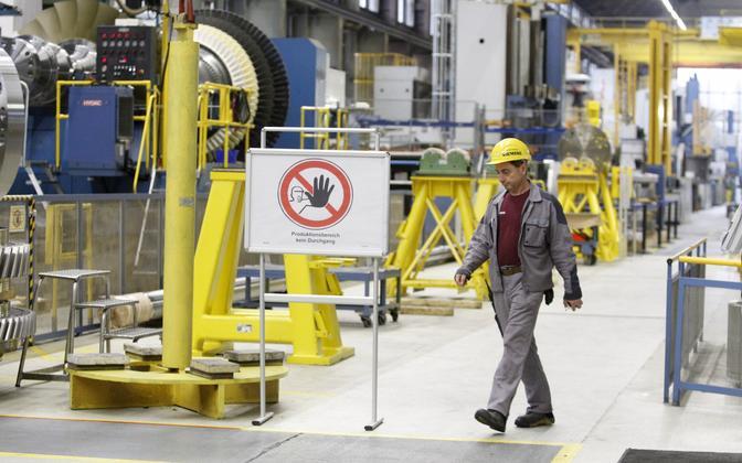 Siemensi gaasiturbiinide tehas Saksamaal.