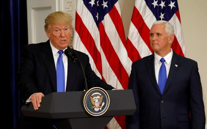 Donald Trump ja Mike Pence.