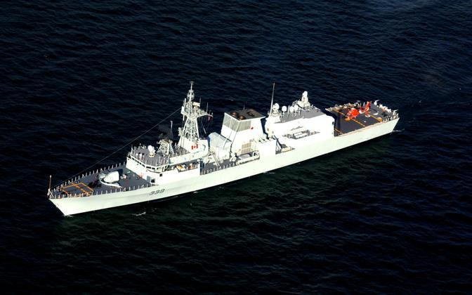 Kanada sõjalaev HMCS Charlottetown.