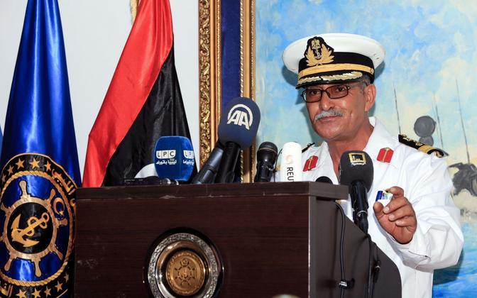 Rahvusvaheliselt tunnustatud Liibüa valitsuse mereväe pressiesindaja Ayoub Qassem 10. augustil Tripolis.