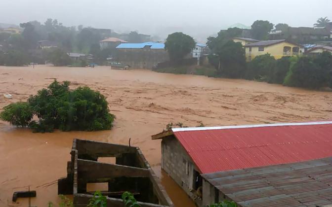 The mudslides destroyed entire communities.