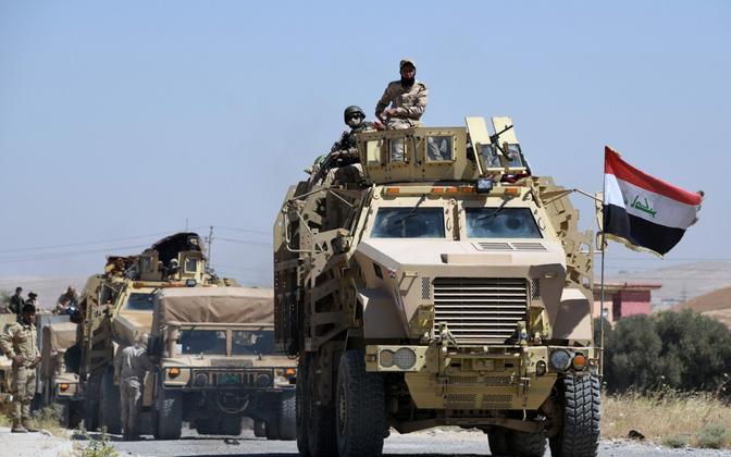 Iraagi valitsusväed Tal Afari suunas viival teel käesoleva aasta juunis.