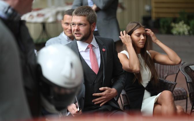 Jevgeni Ossinovski osales SDE valimisprogrammi tutvustusüritusel 16. augustil.