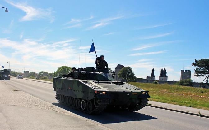 Rootsi relvajõud Gotlandi saarel 2017. aasta suvel.