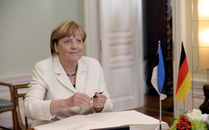 Liidukantsler Angela Merkel käis viimati Eestis 2016. aasta augustis.