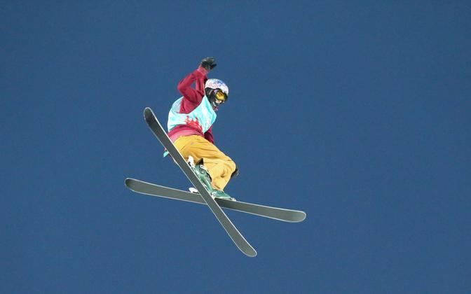 Freestyle skier Kelly Sildaru.