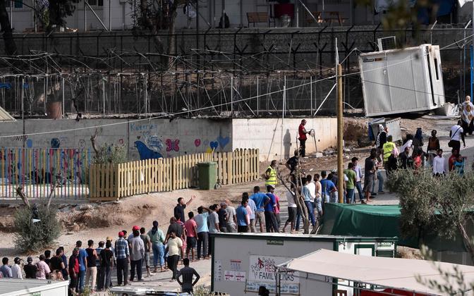 Moria migratsioonikeskus Lesbose saarel.