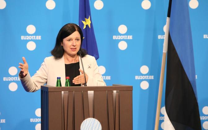Euroopa Komisjoni volinik Věra Jourová juunikuus Tallinnas justiitsministrite mitteametlikul kohtumisel.