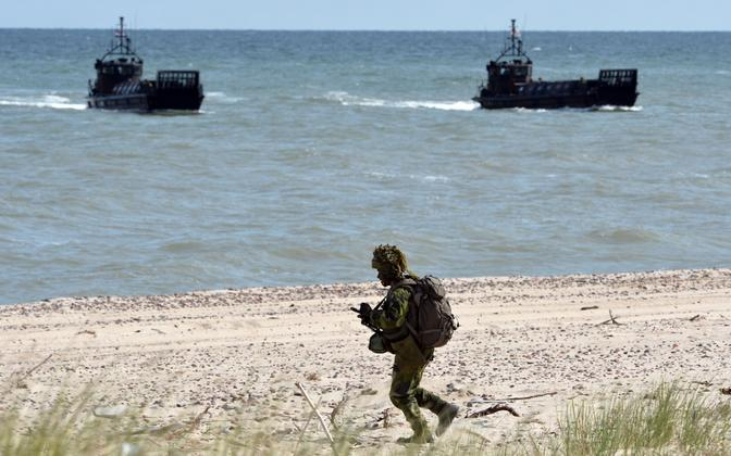 NATO troops participating in Baltops.