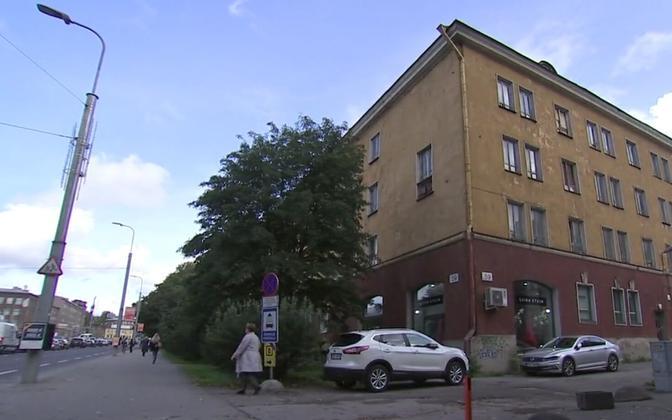 Kaunite kunstide kooli uue maja asukoht Tallinnas Pärnu maanteel.