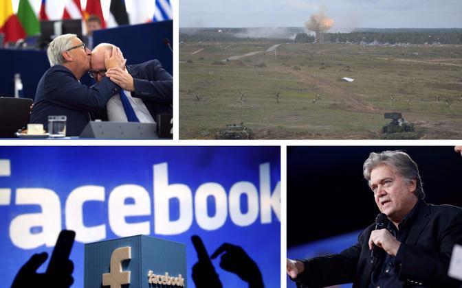 Juncker ja Timmermans kolmapäeval europarlamendis, õppus Zapad 2017, Facebooki logo, Steve Bannon.