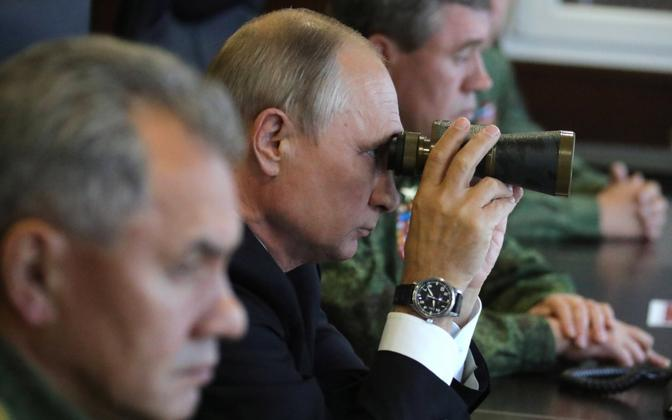 Putin during the Russian military's Zapad 2017 exercise.
