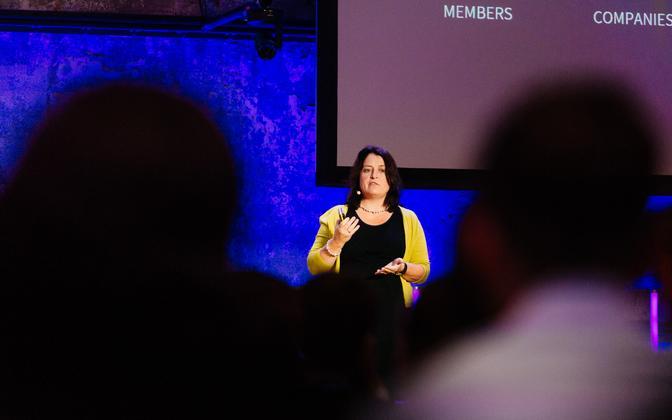 LinkedIni värbamislahenduste direktor Barbara Wittmann esines Tallinnas tulevikutöö konverentsil.