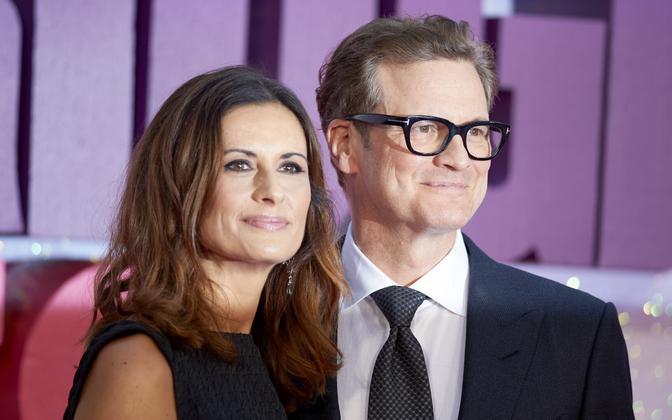 Colin Firth ja abikaasa Livia Giuggioli