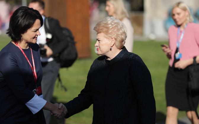 Президент Литвы Даля Грибаускайте на саммите ЕС в таллиннском