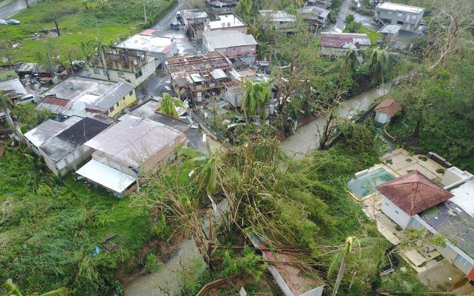 Orkaan Maria tagajärjed San Juanis.