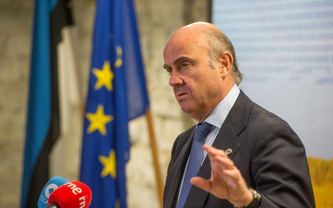 Министр экономики Испании Луис де Гиндос Хурадо во время визита в Таллинн в сентябре.