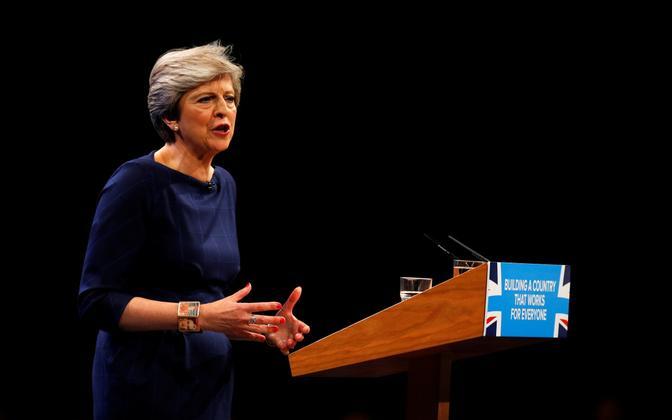 Peaminister Theresa May konservatiivide aastakongressil 4. oktoobril.