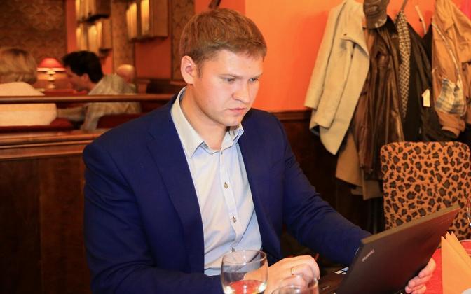 Artjom Suvorov, one of two Tartu deputy mayors arrested on Oct. 18, 2017.