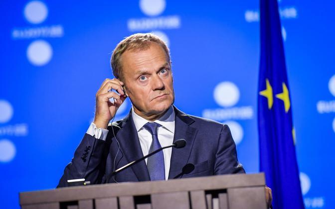 Donald Tusk 29. septembril Tallinnas.
