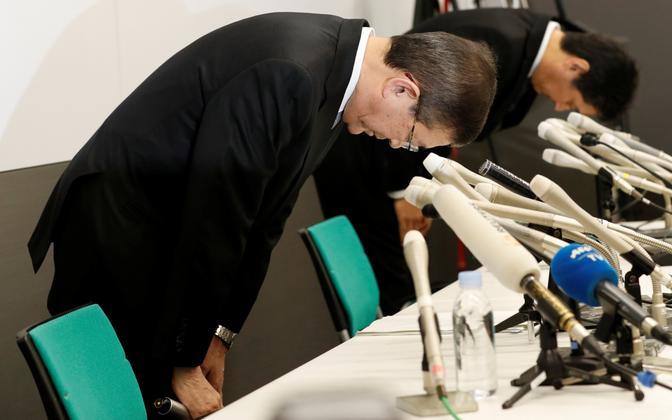 Subaru juhid 27. oktoobril Tokyos toimunud pressikonverentsil vabandust palumas.