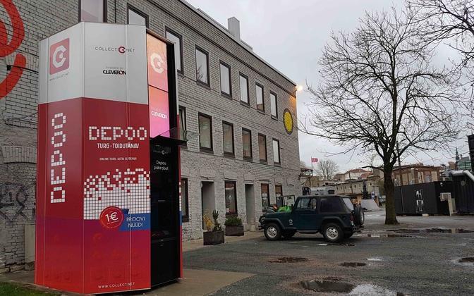 Cleveron package machine in Tallinn.