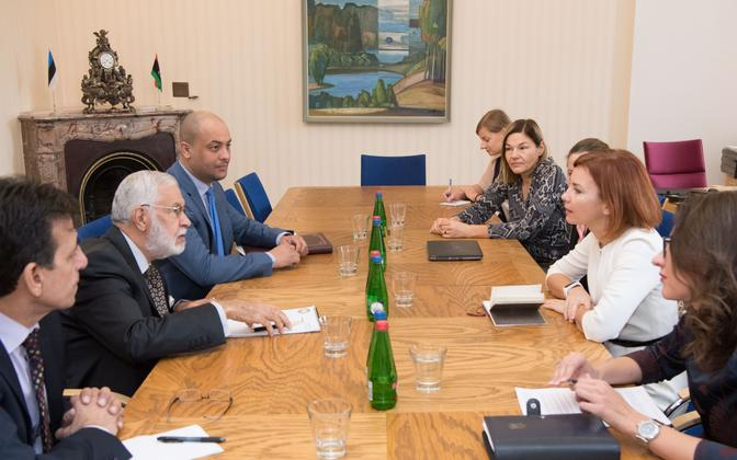 Minister of Foreign Affairs of Libya in the Government of National Accord Mohamed Taha Siala meeting with Estonian MPs in Tallinn on Thursday. Nov. 2, 2017.