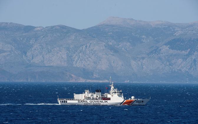 Türgi rannavalvelaev Egeuse merel.