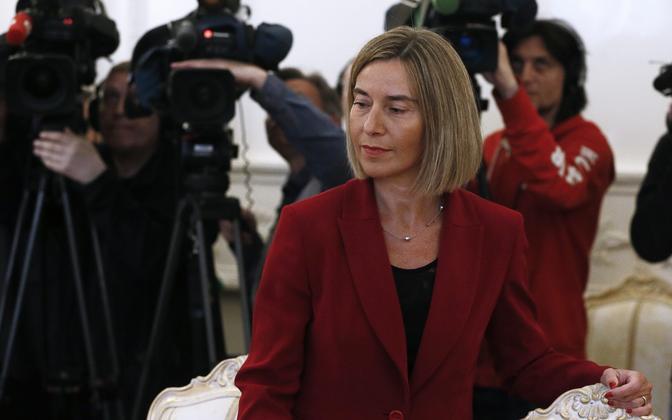 Federica Mogherini Moskvas.