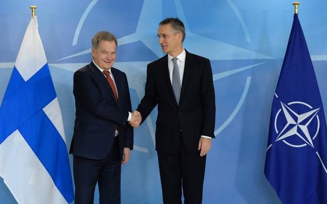Soome president Sauli Niinistö ja NATO peasekretär Jens Stoltenberg.