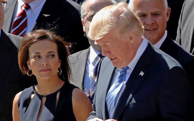 Dina Powell ja Donald Trump.